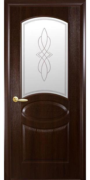 Межкомнатные двери Овал со стеклом сатин и рисунком oval-20