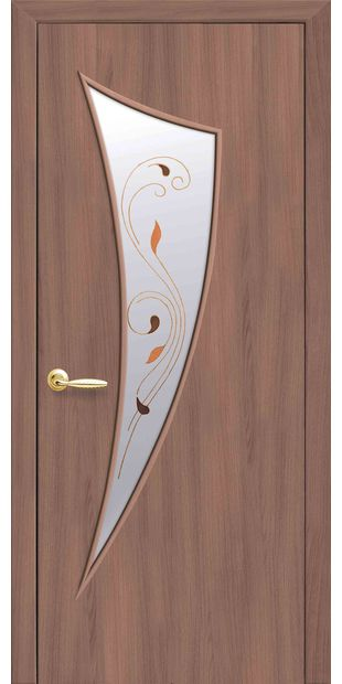Межкомнатные двери Парус со стеклом сатин и рисунком parus-12