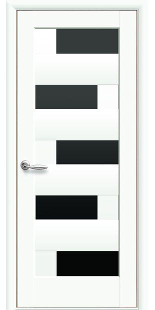 Межкомнатные двери Пиана с черным стеклом piana-20
