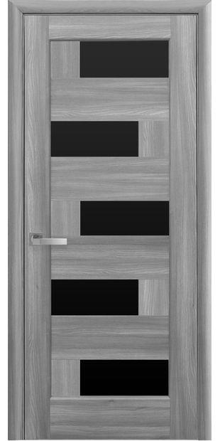 Межкомнатные двери Пиана с черным стеклом piana-33