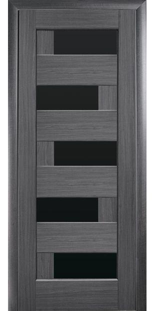 Межкомнатные двери Пиана с черным стеклом piana-36