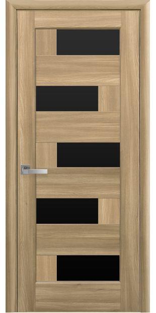 Межкомнатные двери Пиана с черным стеклом piana-39