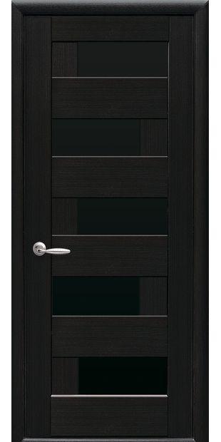 Межкомнатные двери Пиана с черным стеклом piana-6