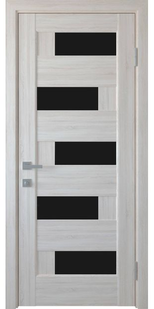 Межкомнатные двери Пиана с черным стеклом piana-7