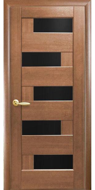 Межкомнатные двери Пиана с черным стеклом piana-8