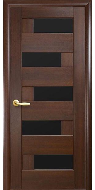 Межкомнатные двери Пиана с черным стеклом piana-9
