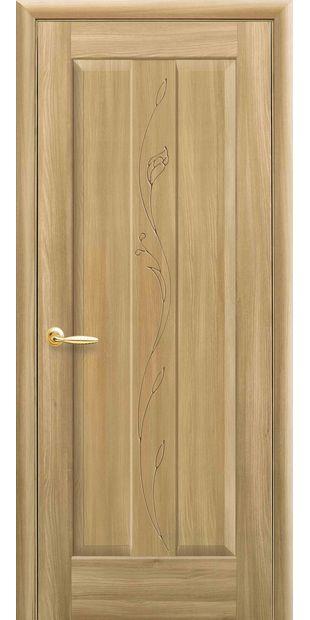 Межкомнатные двери Премьера глухое с гравировкой premera-3