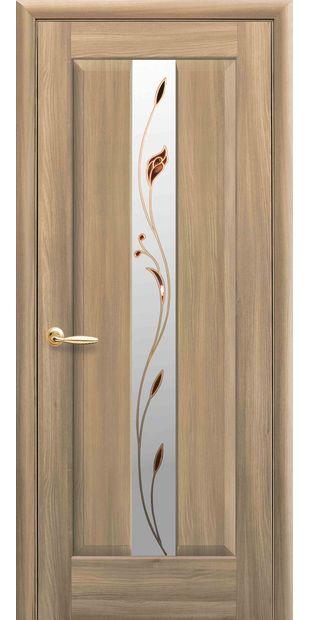 Межкомнатные двери Премьера со стеклом сатин и рисунком Р1 premera-5