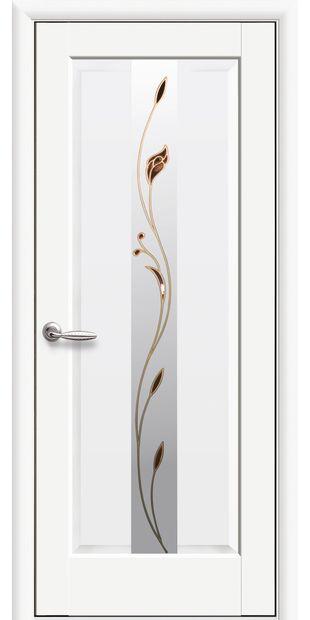 Межкомнатные двери Премьера со стеклом сатин и рисунком Р1 premera-6