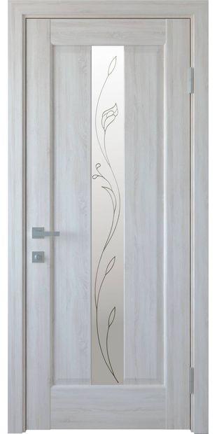 Межкомнатные двери Премьера со стеклом сатин и рисунком Р2 premiera-12
