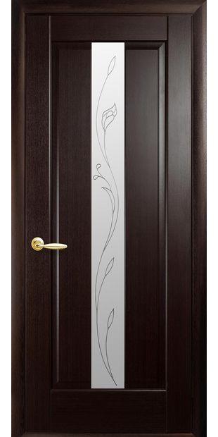 Межкомнатные двери Премьера со стеклом сатин и рисунком Р2 premiera-13
