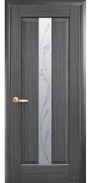 Межкомнатные двери Премьера со стеклом сатин и рисунком premiera-19
