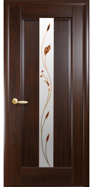 Межкомнатные двери Премьера со стеклом сатин и рисунком Р1 premiera-32
