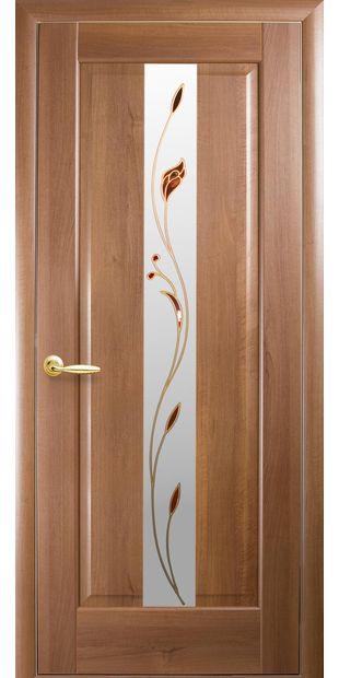 Межкомнатные двери Премьера со стеклом сатин и рисунком Р1 premiera-33
