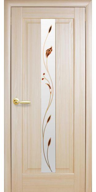Межкомнатные двери Премьера со стеклом сатин и рисунком premiera-34