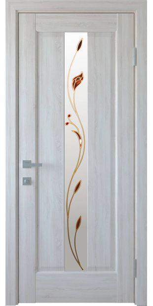 Межкомнатные двери Премьера со стеклом сатин и рисунком Р1 premiera-34