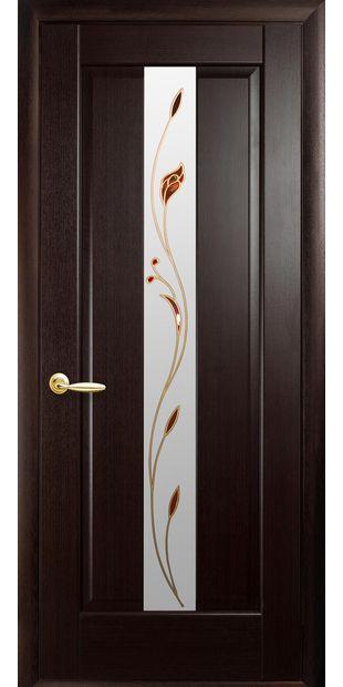 Межкомнатные двери Премьера со стеклом сатин и рисунком Р1 premiera-35