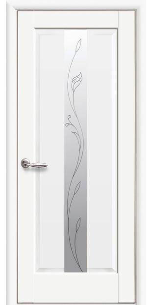 Межкомнатные двери Премьера со стеклом сатин и рисунком Р2 premiera-42