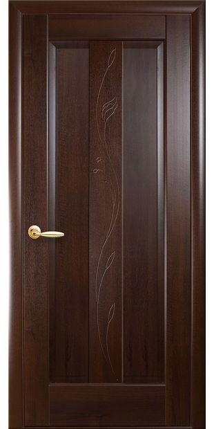 Межкомнатные двери Премьера глухое с гравировкой premiera-48