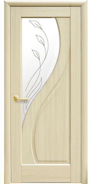 Межкомнатные двери Прима со стеклом сатин и рисунком prima-11