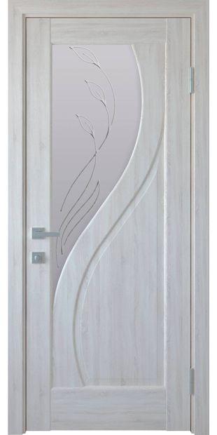 Межкомнатные двери Прима со стеклом сатин и рисунком Р2 prima-11