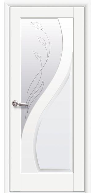 Межкомнатные двери Прима со стеклом сатин и рисунком Р2 prima-12
