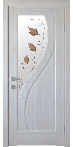 Межкомнатные двери Прима со стеклом сатин и рисунком Р1 prima-7