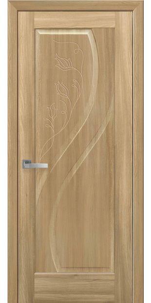 Межкомнатные двери Прима глухое с гравировкой prima-17