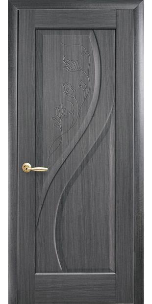 Межкомнатные двери Прима глухое с гравировкой prima-44