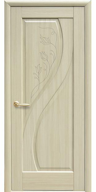 Межкомнатные двери Прима глухое с гравировкой prima-45