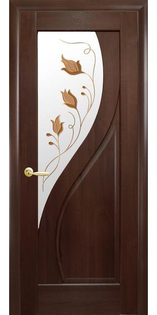 Межкомнатные двери Прима со стеклом сатин и рисунком Р1 prima-5