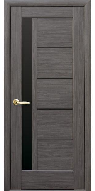 Межкомнатные двери Грета с черным стеклом pvh-deluxe-greta-s-cernym-steklom-1