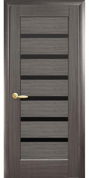 Межкомнатные двери Линнея с черным стеклом pvh-deluxe-linnea-s-cernym-steklom-1
