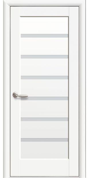 Межкомнатные двери Линнея со стеклом сатин pvh-deluxe-linnea-so-steklom-satin