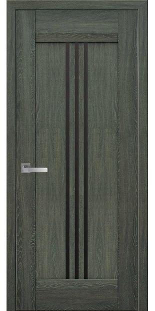 Межкомнатные двери Рейс с черным стеклом race-3