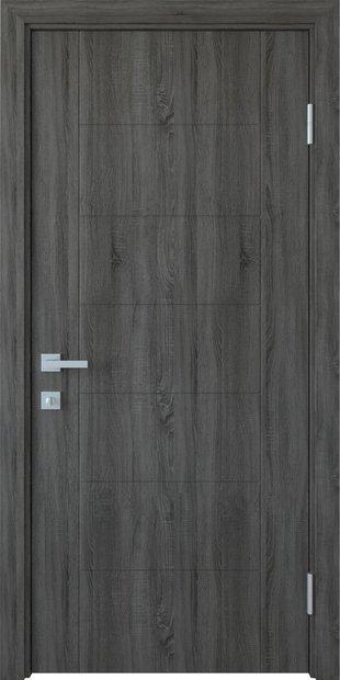 Межкомнатные двери Рина глухое с гравировкой rina-6
