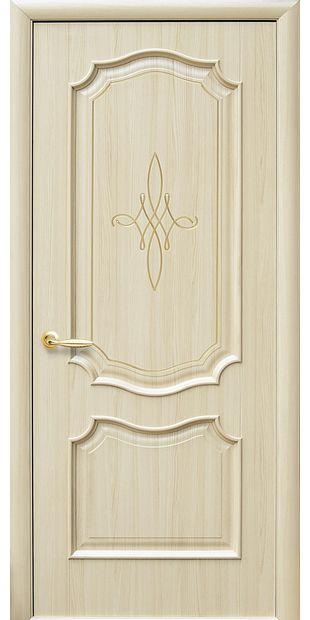 Межкомнатные двери Рока глухое с гравировкой Gold roka-5