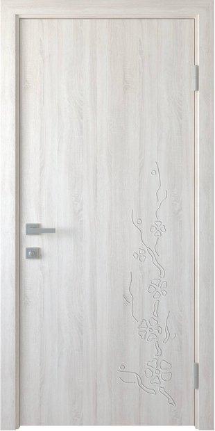 Межкомнатные двери Сакура глухое с гравировкой sakura-11