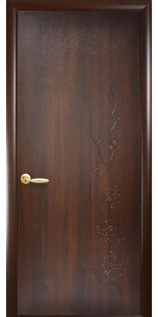 Межкомнатные двери Сакура глухое с гравировкой sakura-4
