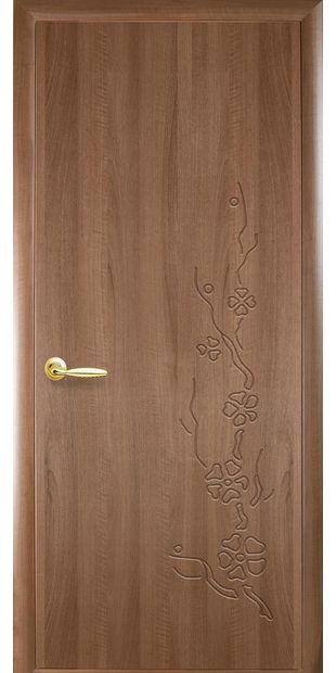 Межкомнатные двери Сакура глухое с гравировкой sakura-6