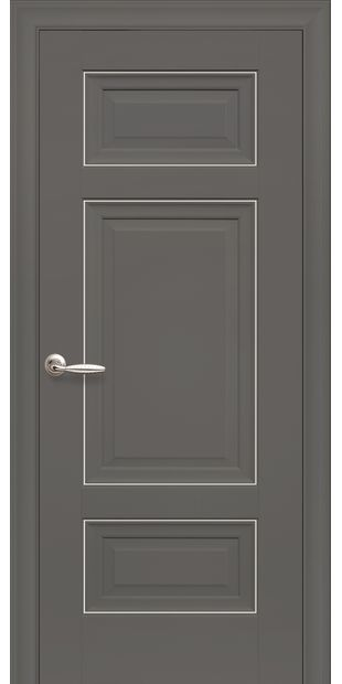 Межкомнатные двери Шарм Глухое с молдингом sarm-1