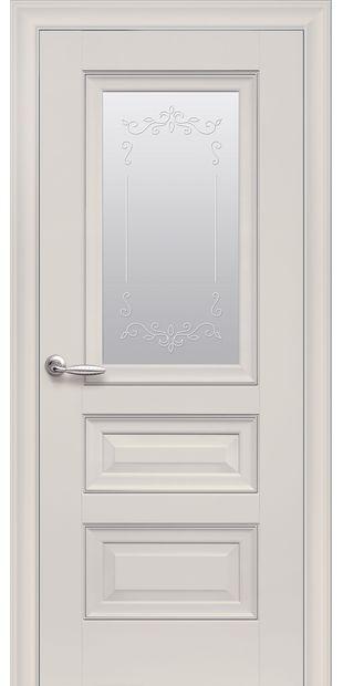 Межкомнатные двери Статус Со стеклом сатин, молдингом и рисунком  status-2