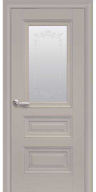 Межкомнатные двери Статус Со стеклом сатин, молдингом и рисунком  status-4