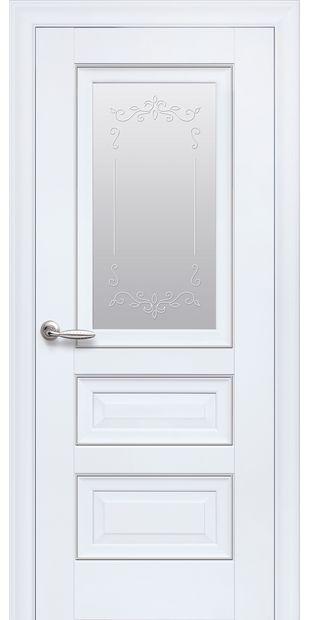 Межкомнатные двери Статус Со стеклом сатин, молдингом и рисунком  status-6