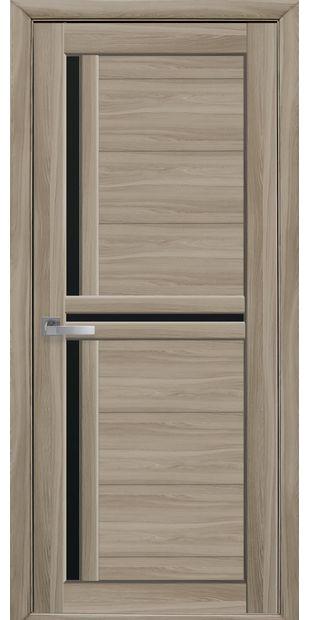 Межкомнатные двери Тринити с черным стеклом triniti-11