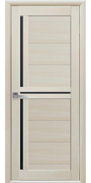 Межкомнатные двери Тринити с черным стеклом triniti-13