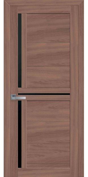Межкомнатные двери Тринити с черным стеклом triniti-18