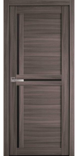 Межкомнатные двери Тринити с черным стеклом triniti-blk-dub-atlant