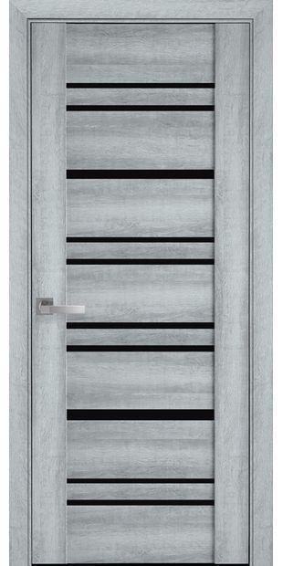 Межкомнатные двери Валенсия с черным стеклом valensyia4
