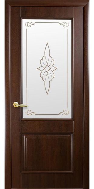 Межкомнатные двери Вилла со стеклом сатин и рисунком villa-16